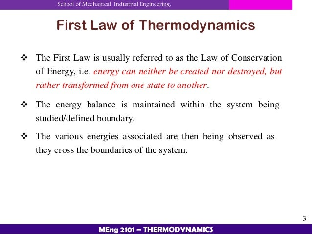 Describe the laws of thermodynamics - Essay Example