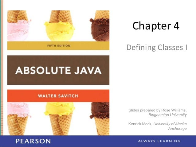 Chapter 4 Defining Classes I
