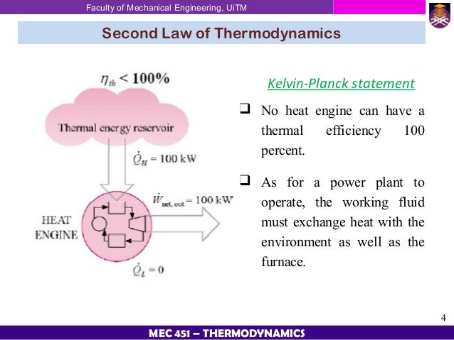 application of 2nd law of thermodynamics Second law of thermodynamics is law of nature summary of the above lecture along with application of 2nd law in engineering life are described below.