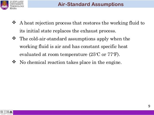 Thermodynamic Chapter 5 Air Standard Cycle