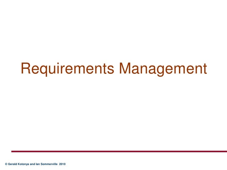 Requirements Management<br />