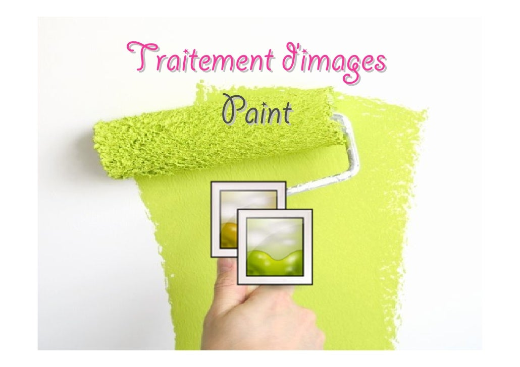 Traitement d'images Paint