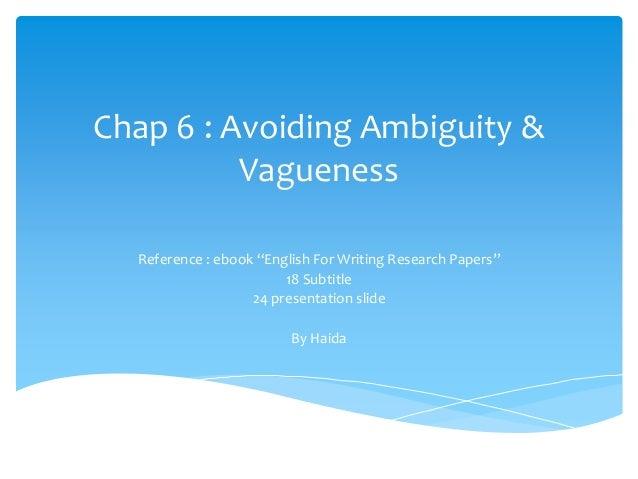 Chap 6 Avoiding Ambiguity