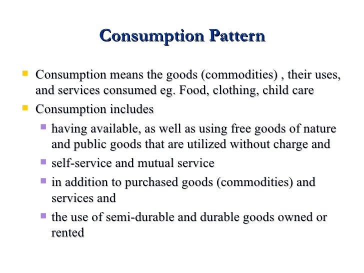 Analysis of Changes in Food Consumption Patterns in Urban Ethiopia