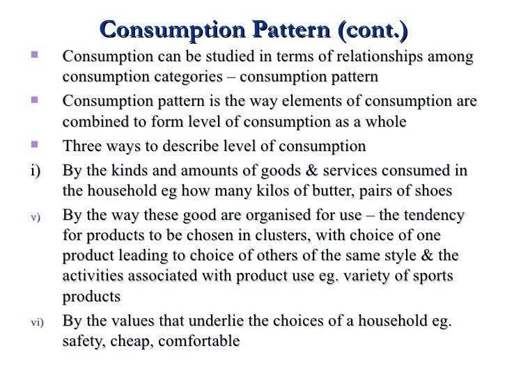 Consumption Pattern And Expenditure Adorable Consumption Patterns