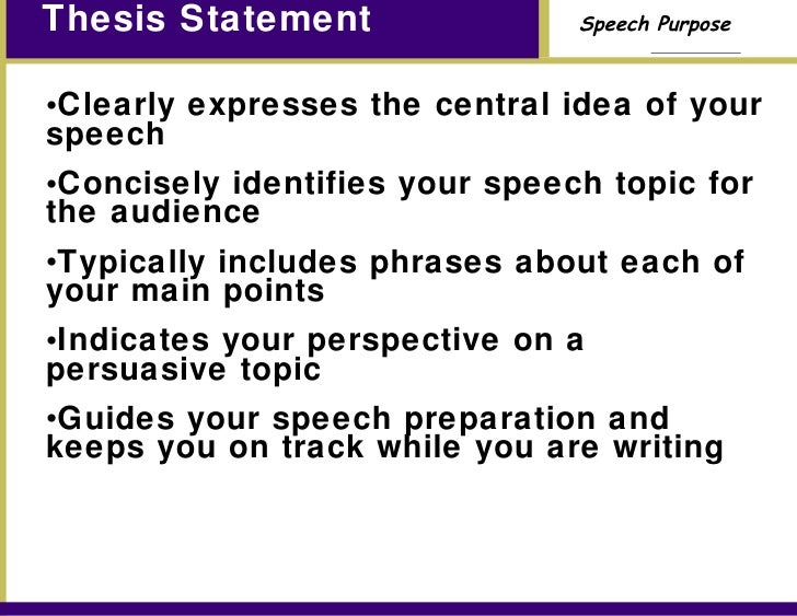 define thesis statement in english