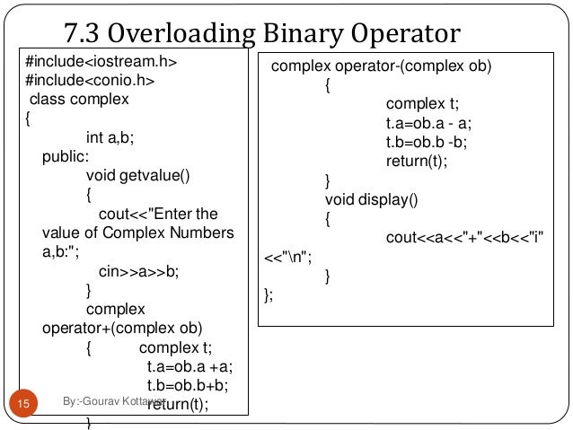 definition of operator overloading in c++ pdf