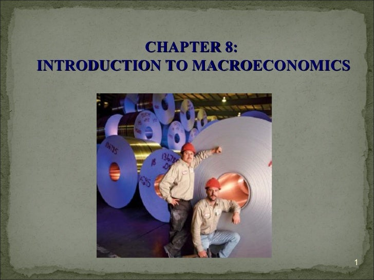 CHAPTER 8:  INTRODUCTION TO MACROECONOMICS