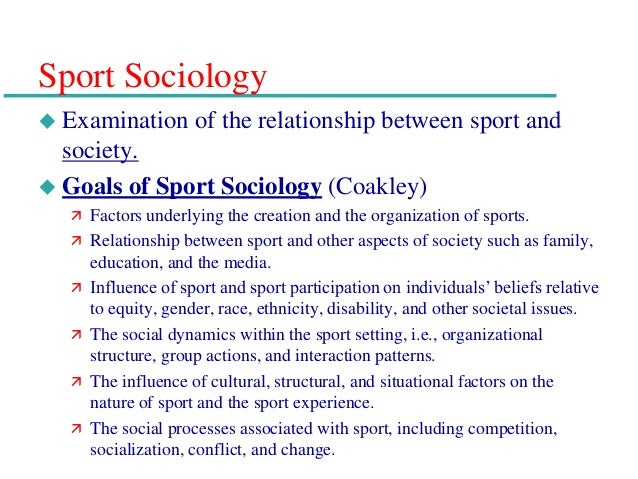 An examination the link between socialization gender and sport