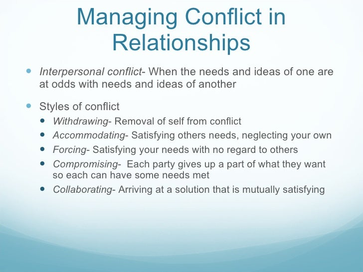 How to solve conflict in a relationship