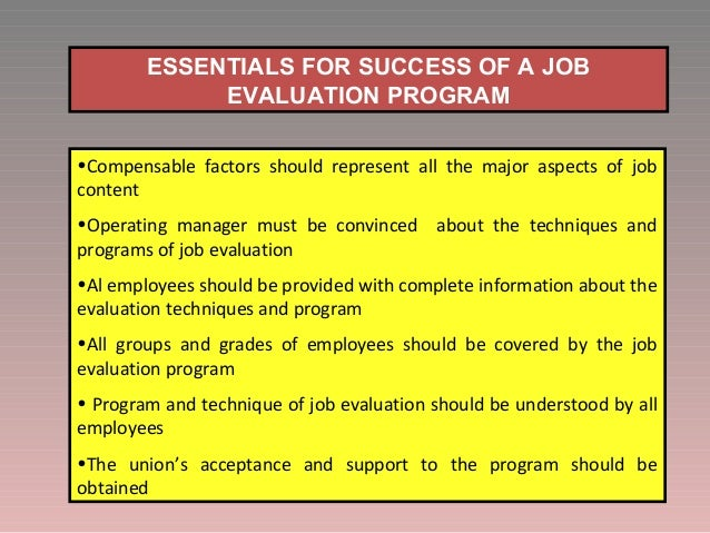 Image result for Success Of Job Evaluation Programs images