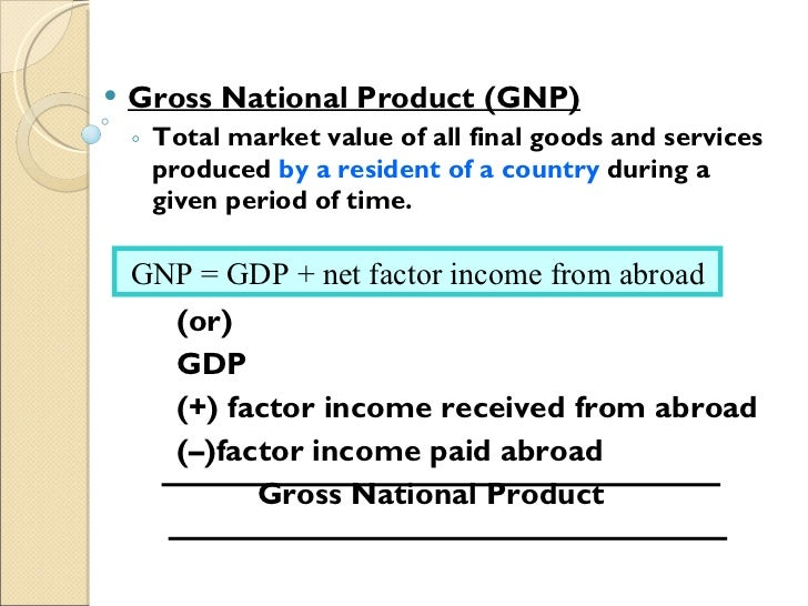gross domestic product definition pdf