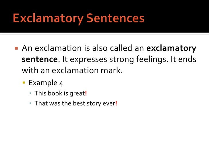 how to make exclamatory sentence