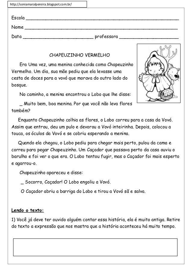 http://soniamaralpereira.blogspot.com.br/ Escola ______________________________________________________ Nome _____________...