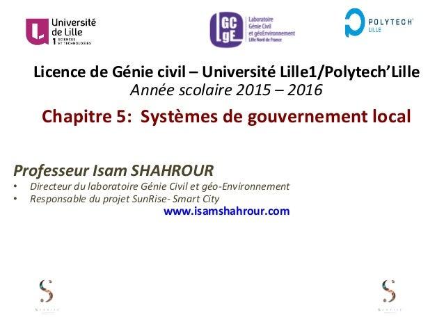 Licence  de  Génie  civil  –  Université  Lille1/Polytech'Lille   Année  scolaire  2015  –  2016  ...