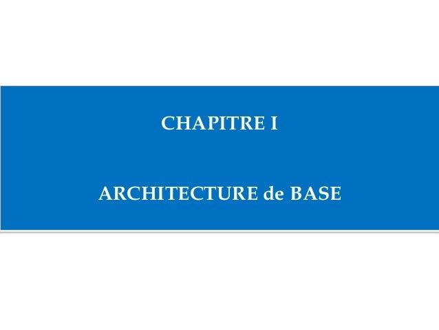CHAPITRE I ARCHITECTURE de BASE