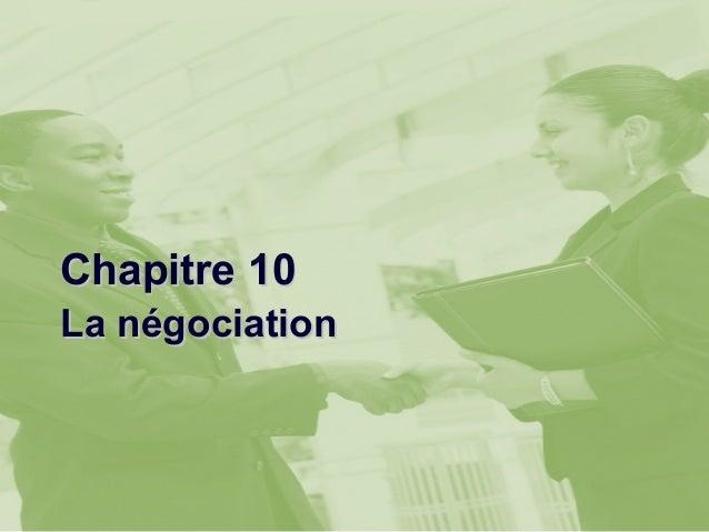 Chapitre 10La négociation
