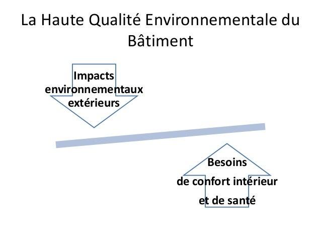 qualit environnementale du b timent