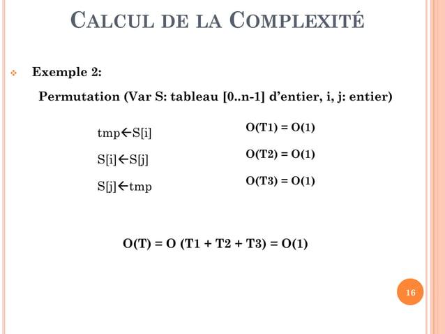16  Exercice 2 : Compléter les tableaux suivants sachant que :  Dans le tableau (a), il s'agit de calculer le nombre d'o...