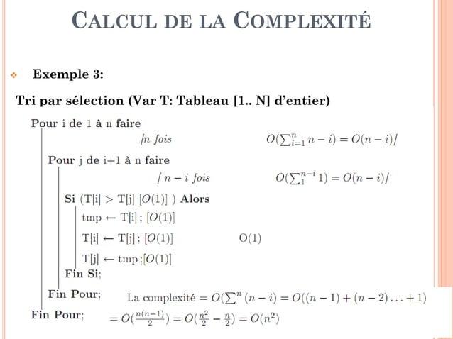 20  Exercice 2 (Solution):. CLASSES DE COMPLEXITÉ