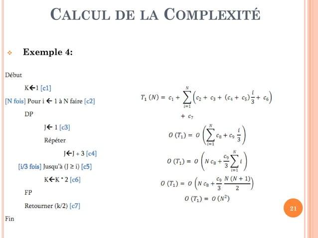21  Exercice 2 (Solution):. CLASSES DE COMPLEXITÉ