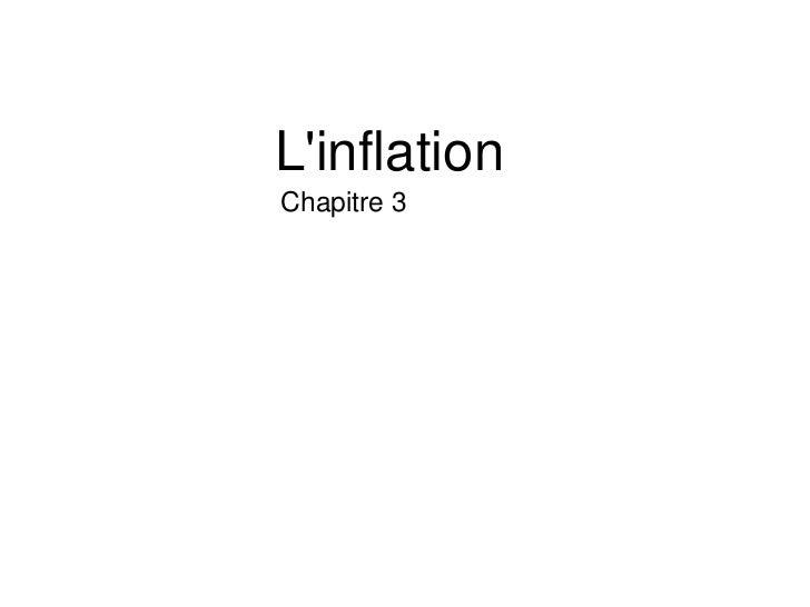 LinflationChapitre 3
