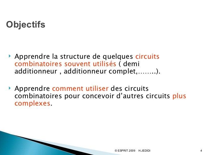 Chapitre3 for Circuits combinatoires