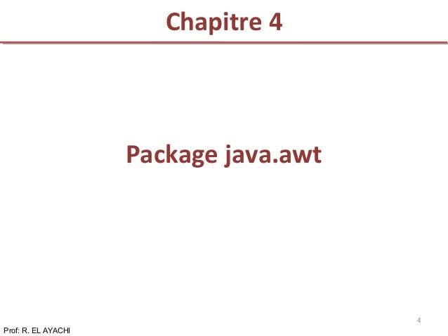Chapitre 4 Prof: R. EL AYACHI 4 Package java.awt