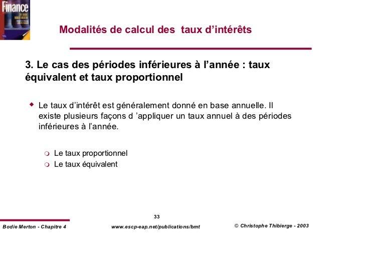 Chap 1 valeur argent et cash flows transparents for Calcul precompte