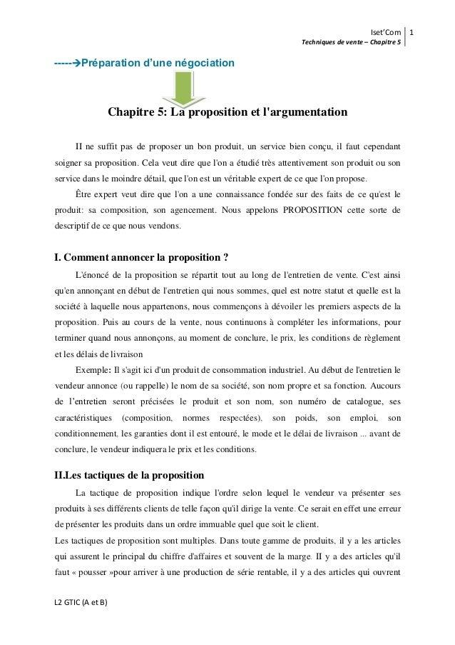 Iset'Com 1                                                                        Techniques de vente – Chapitre 5-----Pr...