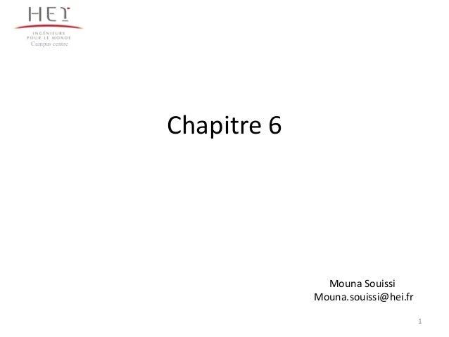 Campus centre  Chapitre 6  Mouna Souissi Mouna.souissi@hei.fr 1