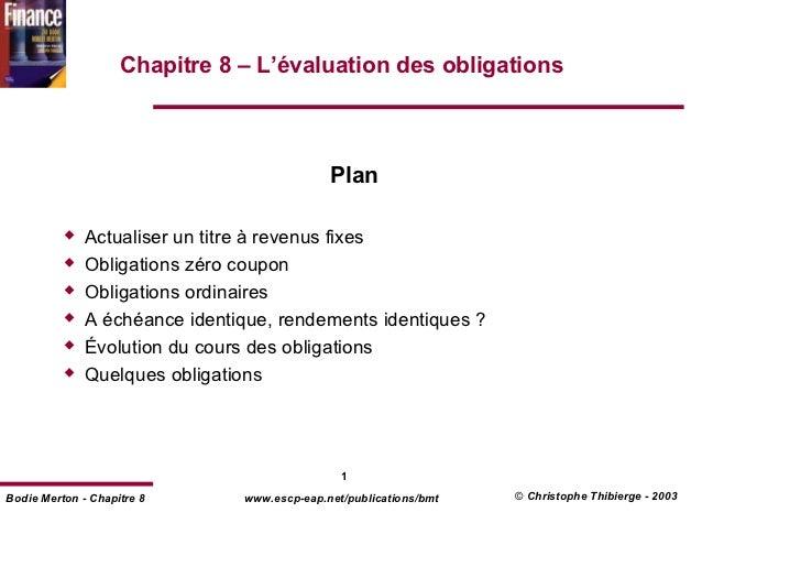 Chapitre 8 – L'évaluation des obligations                                             Plan              Actualiser un titr...