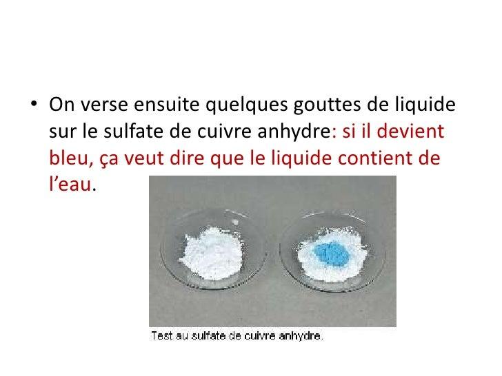 Chapitre iii l 39 eau dans les boissons - Anti algues piscine sulfate de cuivre ...