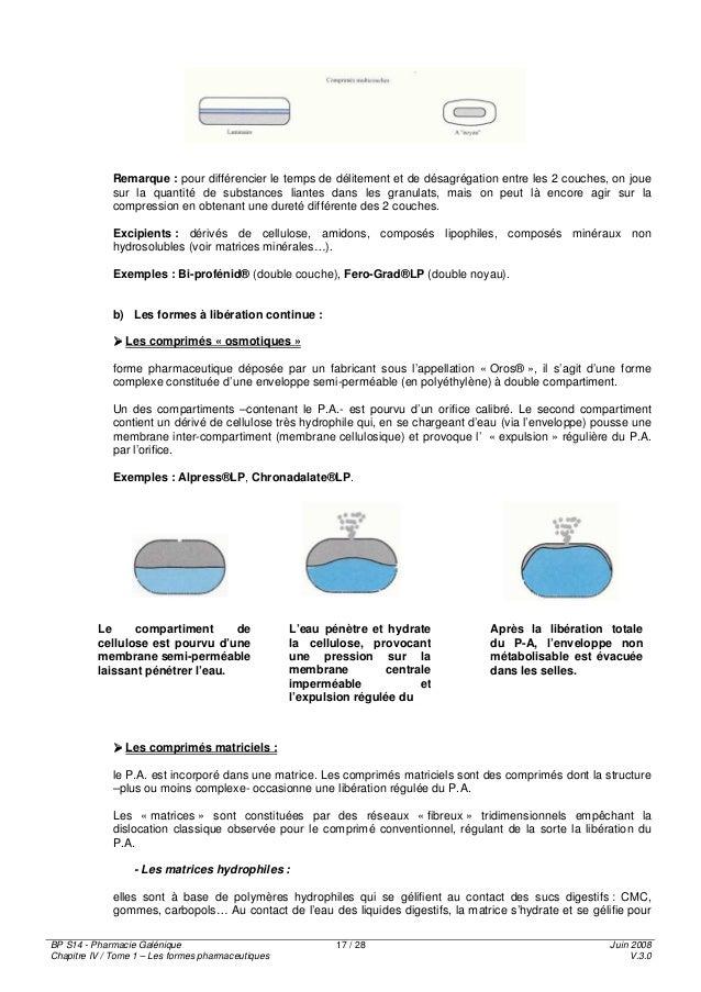 chapitre 3 formes pharmaceutiques de la voie orale