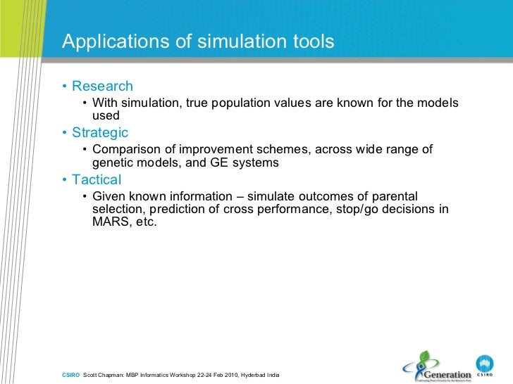 Applications of simulation tools <ul><li>Research  </li></ul><ul><ul><li>With simulation, true population values are known...