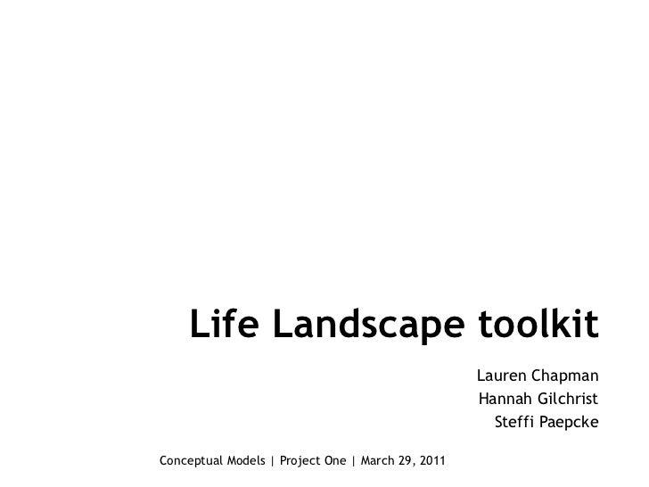 Life Landscape toolkit                                                   Lauren Chapman                                   ...