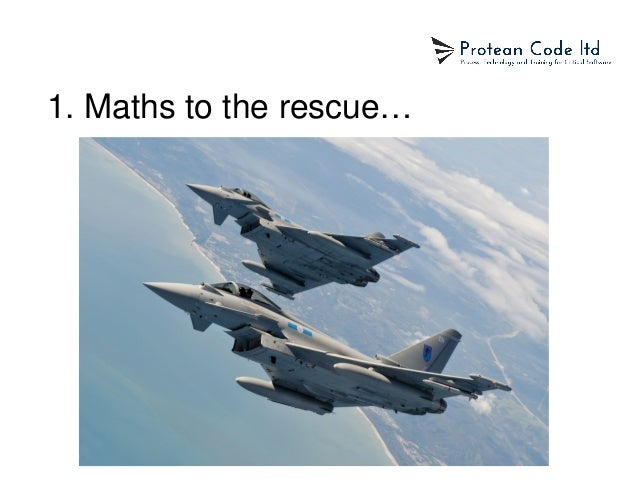 1. Maths to the rescue…