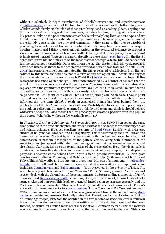 Chapple R M 2013 Iverni A Prehistory Of Cork Review Blogspot P