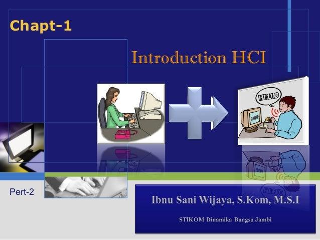 Chapt-1          Introduction HCIPert-2            LOGO