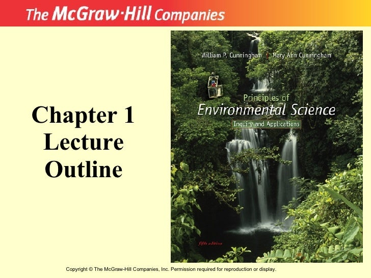 Copyright  ©  The McGraw-Hill Companies, Inc. Permission required for reproduction or display. Chapter 1 Lecture Outline