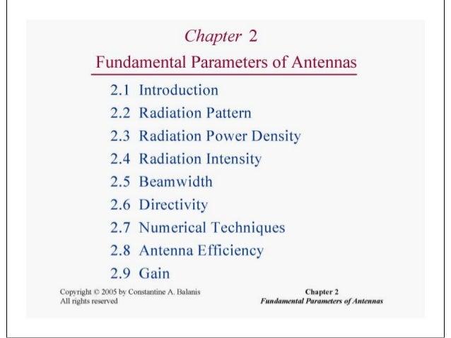 FUNDAMENTAL PARAMETERS OF ANTENNA