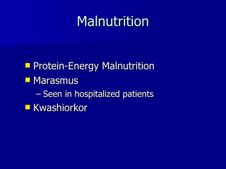 Vegetarians and Malnutrition