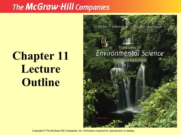 Copyright  ©  The McGraw-Hill Companies, Inc. Permission required for reproduction or display. Chapter 11 Lecture Outline