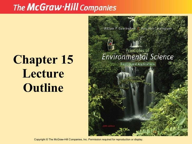 Copyright  ©  The McGraw-Hill Companies, Inc. Permission required for reproduction or display. Chapter 15 Lecture Outline