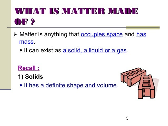 what is matter made of