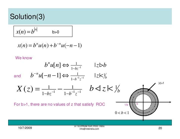 Z transform solved problems pdf download