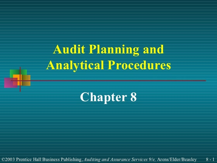 Audit Planning and Analytical Procedures Chapter 8