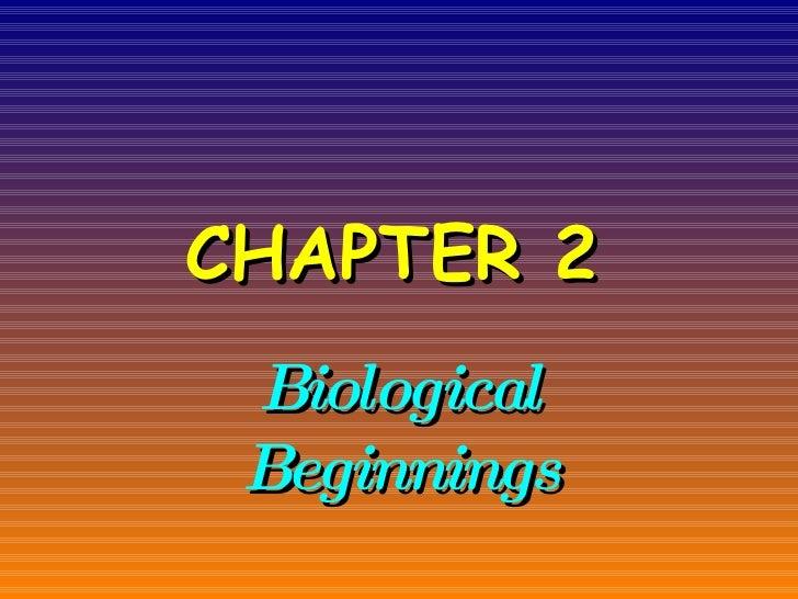 CHAPTER 2   Biological Beginnings