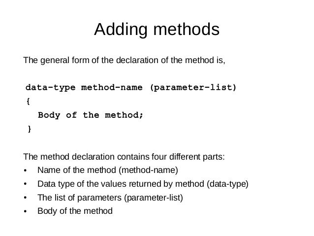 Chapter 02: Classes Objects and Methods Java by Tushar B Kute