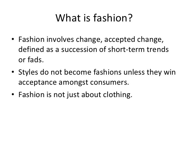 How Do Trends In Fashion Work